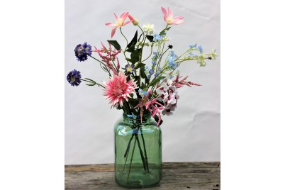 Zomers Geplukt - 70 cm hoog - Kunstbloemen - 7 Stelen
