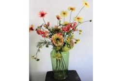 Zomerbries - Silk-ka - 70 cm hoog - Kunstbloemen - 9 Stelen