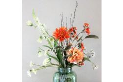 Frisse Schikking - 60 cm hoog - Kunstbloemen - 8 Stelen