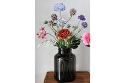 Zomerbries - inclusief vaas  - 60 cm hoog - Kunstbloemen - 7 Stelen