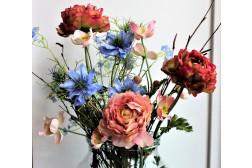 Zijden Boeket met Pioen rozen